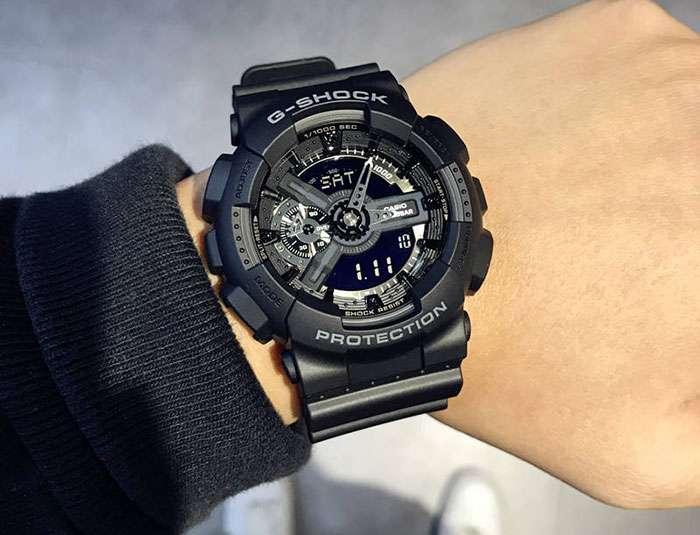 CASIO G SHOCK GA 110 1B 6 - بررسی دقیق ساعت کاسیو جی شاک CASIO G-SHOCK GA-110-1B + خرید ارزان